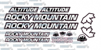 Rocky Mountain Altitude Graphic Sticker Set